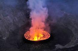 mount nyiragongo lava volcano